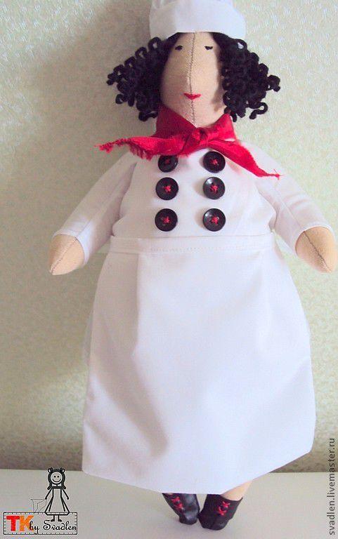 """Куклы Тильды ручной работы. Ярмарка Мастеров - ручная работа. Купить """"Шеф - повар"""" кукла в стиле тильда. Handmade."""