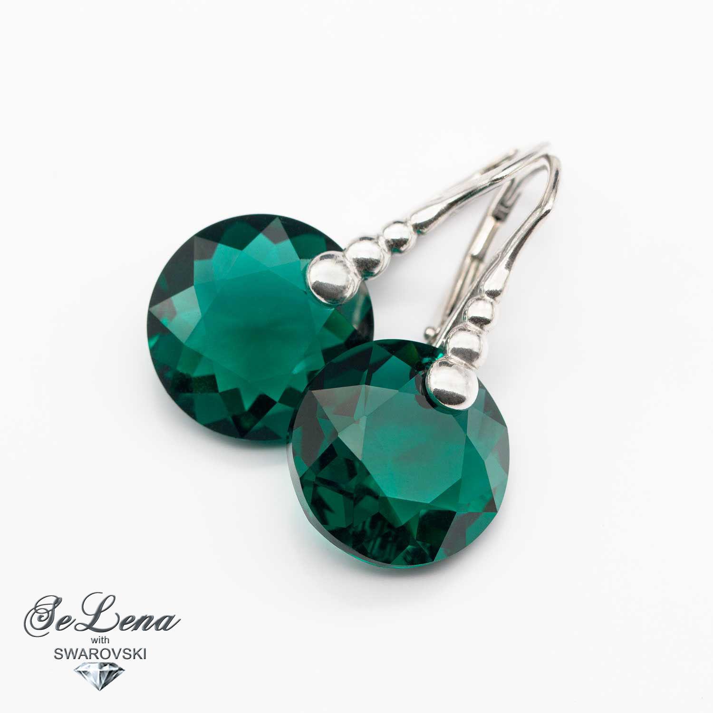 Swarovski earrings silver_ silver earrings Swarovski_sergi Swarovski, Earrings, Vyshny Volochyok,  Фото №1