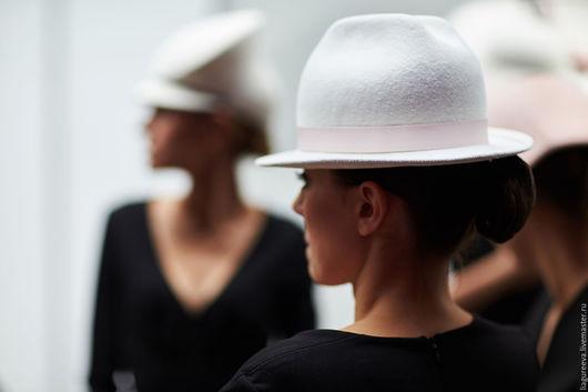 Шляпы ручной работы. Ярмарка Мастеров - ручная работа. Купить Шляпка с полями. Handmade. Белый, шляпа, шляпка, головные уборы