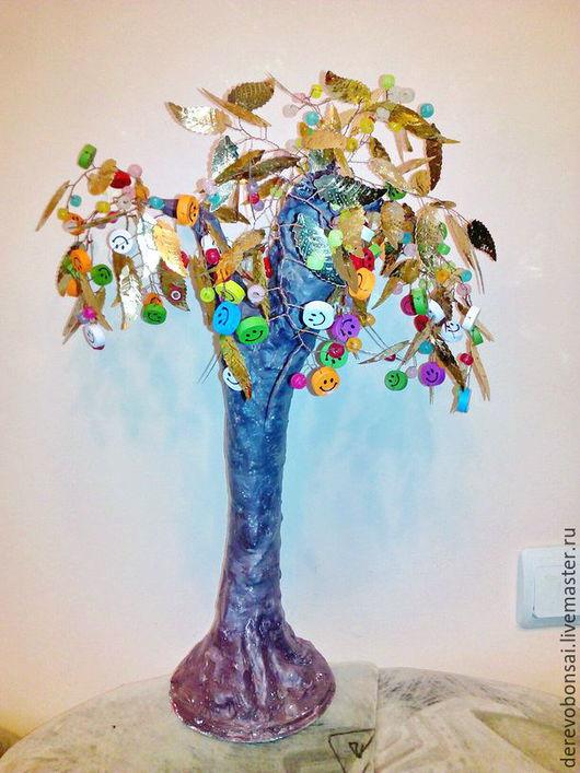 """Бонсай ручной работы. Ярмарка Мастеров - ручная работа. Купить Бонсай """"Дерево счастья"""". Handmade. Бонсай, для детской комнаты"""