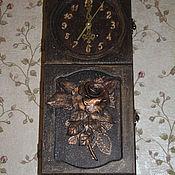 """Для дома и интерьера ручной работы. Ярмарка Мастеров - ручная работа Часы-ключница """"Любимая роза..."""" В единственном экземпляре, без повтора. Handmade."""