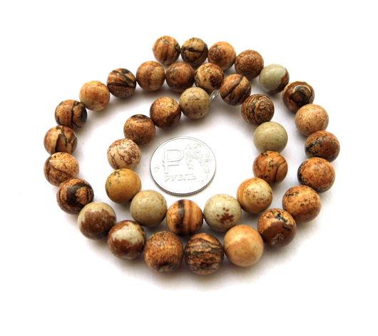 Для украшений ручной работы. Ярмарка Мастеров - ручная работа. Купить Яшма песочная 38 камней набор бусины гладкий шар 10 мм песчаная. Handmade.