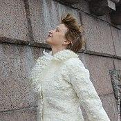 """Одежда ручной работы. Ярмарка Мастеров - ручная работа Жакет валяный """"Белый ветер"""". Handmade."""