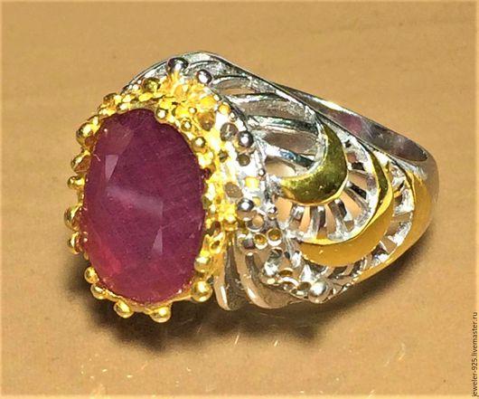 """Кольца ручной работы. Ярмарка Мастеров - ручная работа. Купить Авторское кольцо с нат. Рубином """"Ливадия"""" серебро 925, золото. Handmade."""