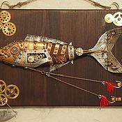 """Картины и панно ручной работы. Ярмарка Мастеров - ручная работа пано """" Рыба худая """". Handmade."""