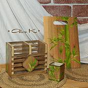 """Для дома и интерьера ручной работы. Ярмарка Мастеров - ручная работа Набор """"Бамбук"""". Handmade."""