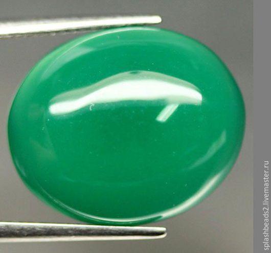 Для украшений ручной работы. Ярмарка Мастеров - ручная работа. Купить Зеленый ботсванский агат 16,72Ct кабошон. Handmade.