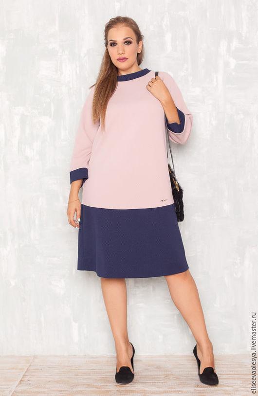 Платья ручной работы. Ярмарка Мастеров - ручная работа. Купить Стильное комбинированное платье 27026-1. Handmade. Желтый