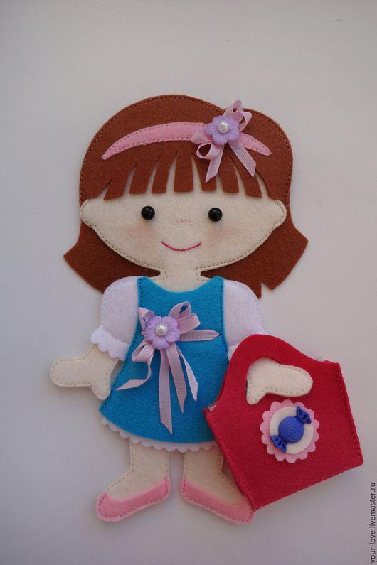 """Развивающие игрушки ручной работы. Ярмарка Мастеров - ручная работа. Купить Развивающая игрушка Куколка для """"Магазинчика сладостей"""", возраст  2,5+. Handmade."""