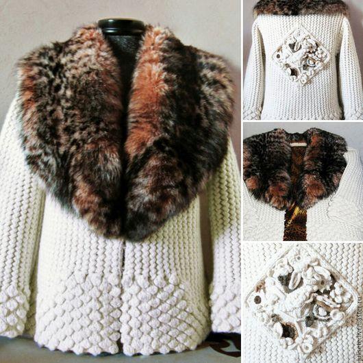 Верхняя одежда ручной работы. Ярмарка Мастеров - ручная работа. Купить Пальто Зимний сад. Handmade. Handmade, вязаная мода