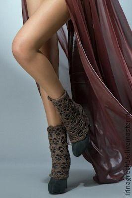 Носки, Чулки ручной работы. Ярмарка Мастеров - ручная работа. Купить ажурные гетры. Handmade. Гетры, ажурные гетры
