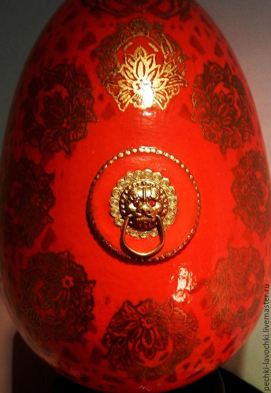 """Яйца ручной работы. Ярмарка Мастеров - ручная работа. Купить Пасхальное сувенирное яйцо """"Китайский дракон"""". Handmade. Интерьерное украшение"""