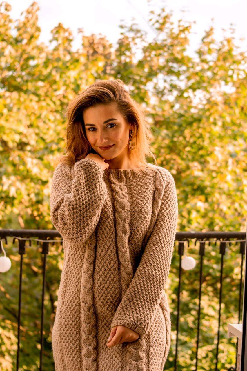 Women's long sweater beige, Sweaters, St. Petersburg,  Фото №1