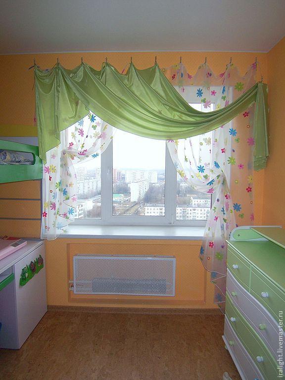 Купить шторы для детской зелёный парус в интернет магазине н.