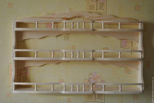 Полки для специй ручной работы. Ярмарка Мастеров - ручная работа. Купить Полка для кухни из дерева Точенка Широкая-(90-55см)Чистая. Handmade.