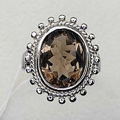 Украшения handmade. Livemaster - original item Silver ring with rauchtopaz 14h10 mm. Handmade.