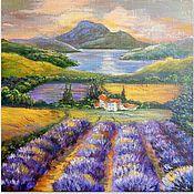 handmade. Livemaster - original item Lavender fields at sunset. Provence.. Handmade.