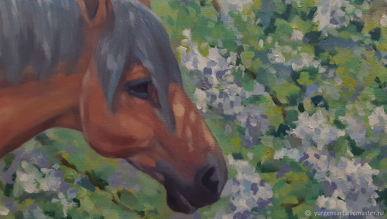 Картина маслом Лошадь с жеребенком