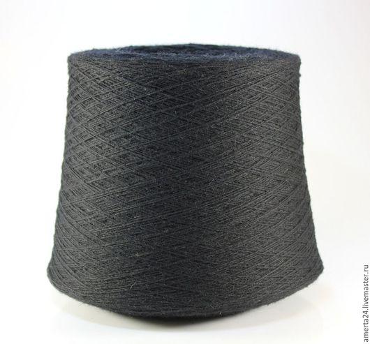 Вязание ручной работы. Ярмарка Мастеров - ручная работа. Купить Ангора на бобинах черная, вес 1,7-2,5 кг. Handmade.