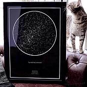 Сувениры и подарки handmade. Livemaster - original item Star map. Birthday, anniversary or anniversary gift. Handmade.