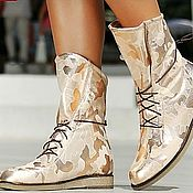 Обувь ручной работы handmade. Livemaster - original item Women`s boots genuine leather and natural fur. Handmade.