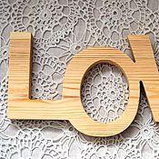 Для дома и интерьера ручной работы. Ярмарка Мастеров - ручная работа Слова, имена из дерева. Handmade.