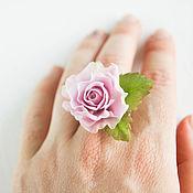Украшения handmade. Livemaster - original item Rose ring, polymer clay. Handmade.