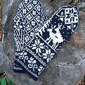 Аксессуары handmade. Livemaster - original item mitten knitting wool. Handmade.