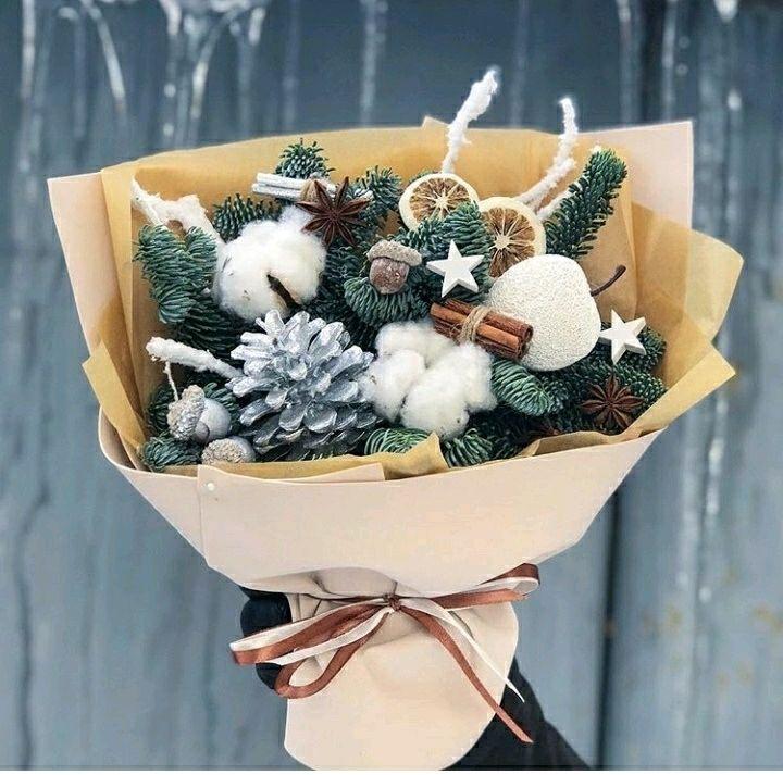 Букет Новогодний..Снежная Буря, Букеты, Москва,  Фото №1