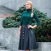 Одежда handmade. Livemaster - original item The skirt of eco-leather