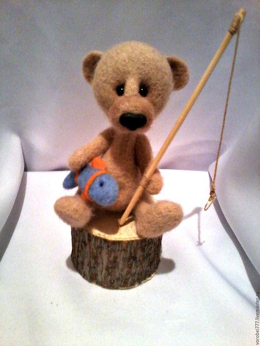 Куклы и игрушки ручной работы. Ярмарка Мастеров - ручная работа. Купить Мишка Рыбак. Handmade. Комбинированный, медвежонок, сувениры и подарки