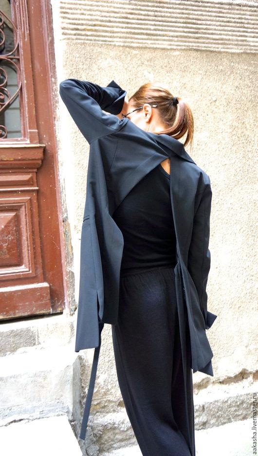 пиджак шерстяной черный жакет из шерсти модная одежда мода 2016 стильный пиджак