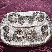 Старинный бисерный кошелек, сумочка, ручная работа, Франция
