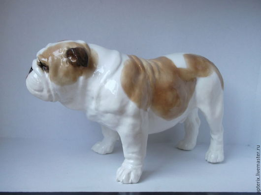 """Статуэтки ручной работы. Ярмарка Мастеров - ручная работа. Купить Статуэтка собаки """" Английский бульдог"""". Handmade. Разноцветный, пес"""