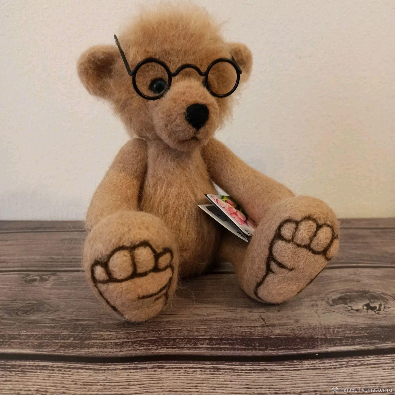 Мишка Тэо, Войлочная игрушка, Санкт-Петербург,  Фото №1
