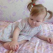 Работы для детей, ручной работы. Ярмарка Мастеров - ручная работа вязаное платье для малышки. Handmade.