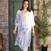 Одежда handmade. Livemaster - original item Viscose shirt dress in pastel colors. Handmade.