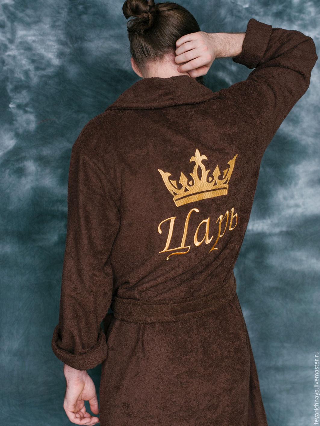 Заказать халат с вышивкой мужской