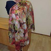 Ткани ручной работы. Ярмарка Мастеров - ручная работа 10313 лоскут Павловопосадского платка из разряженной шерсти 115. Handmade.