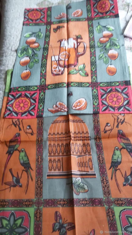 Текстиль, ковры ручной работы. Ярмарка Мастеров - ручная работа. Купить Полотенце льняное с печатным рисунком. Handmade. Лен