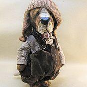 Подарки к праздникам ручной работы. Ярмарка Мастеров - ручная работа Собака плюшевая бассет. Handmade.