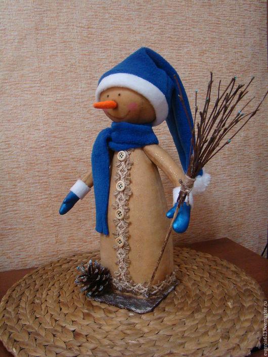 Ароматизированные куклы ручной работы. Ярмарка Мастеров - ручная работа. Купить снеговик. Handmade. Бежевый, Новый Год, бязь тонированная