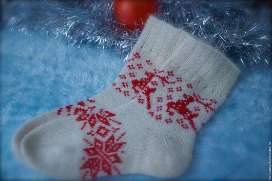 Носки, гольфы, гетры ручной работы. Ярмарка Мастеров - ручная работа. Купить Подростковые носки. Handmade. Орнамент, зима