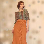 Одежда ручной работы. Ярмарка Мастеров - ручная работа Вязаное комбинированное платье. Handmade.