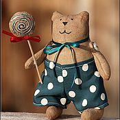 Куклы и игрушки ручной работы. Ярмарка Мастеров - ручная работа Кот с леденцом. Handmade.