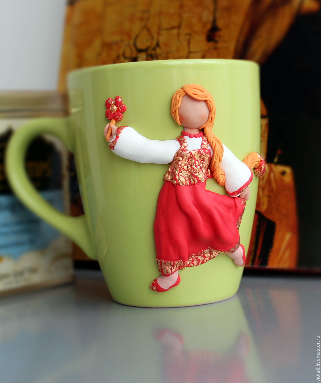 Mug with a girl,a Cup girl,decorated mug,a mug with the figure of the girl,mug gift,mug for girls. Flowers and decorations Zarifa Pirogova.