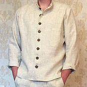 Одежда ручной работы. Ярмарка Мастеров - ручная работа Льняная мужская рубашка. Handmade.