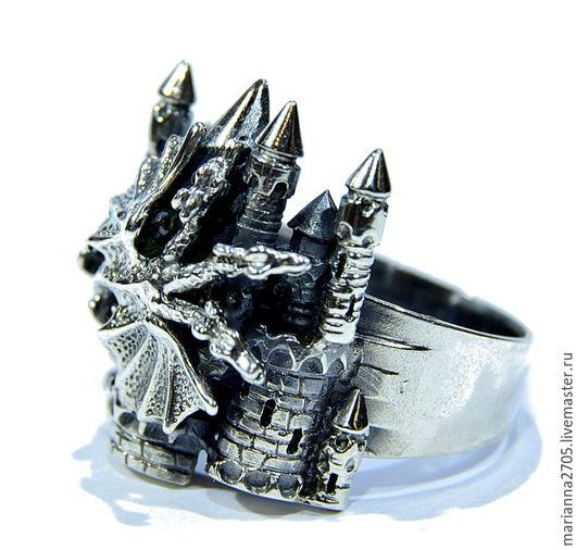 """Кольца ручной работы. Ярмарка Мастеров - ручная работа. Купить """"Змей Горыныч"""" серебряное кольцо в стиле ФЕНТЕЗИ большого размера. Handmade."""