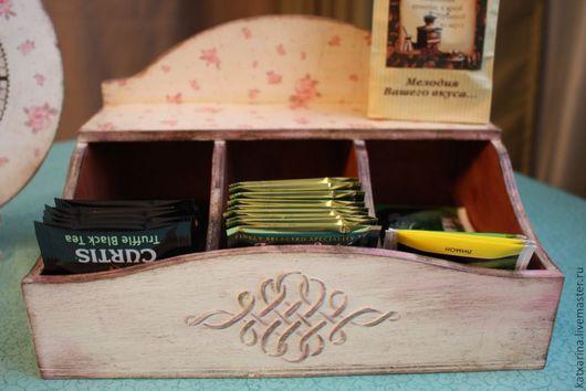 """Кухня ручной работы. Ярмарка Мастеров - ручная работа. Купить Короб для чая"""" В розовых тонах..."""". Handmade. Декупаж"""