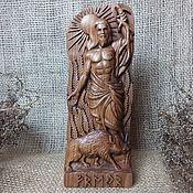 Для дома и интерьера handmade. Livemaster - original item Freyr, the Scandinavian god of fertility, summer, sun Wooden statuette. Handmade.